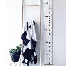 Подвесной Рост Диаграмма 1 шт. Детские диаграмма роста высоты подвесные линейки детская комната стены деревянная рамка домашний декор