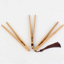 1 шт. деревянный Пинцет для чая, щипцы для чая с беконом, щипцы для чая, бамбуковые щипцы для салата, еды, тостов, изогнутые зажимы, прямые зажимы, кухонная чайная посуда