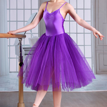 Professional White Black Pink Mesh Long Ballet Tutu Adults Ballerina Dance Elastic Waist Tulle Skirts Women Ball Skirt tutu