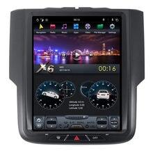 """10,4 """"Tesla Android auto Radio estéreo de Audio DVD GPS de navegación la unidad GPS Infotainment para Dodge RAM 2014, 2015, 2016, 2017"""