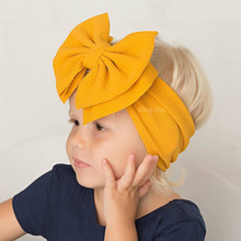 Baby Hairband Headwrap Large Bow Baby Headband Baby Girl Headbands Bandeau Bebe Fille Baby Turban Baby Hair Accessories cheap NYLON Baby Girls Bullet Fabric Solid elastique cheveux fille turban bebe fille bandeau fille chouchou cheveux fille bandeaux bebe fille