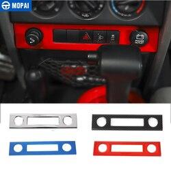 Samochód MOPAI wnętrze gniazdo do zapalniczki Panel dekoracyjny pokrywa akcesoria dla Jeep Wrangler JK 2007 2008 2009 2010
