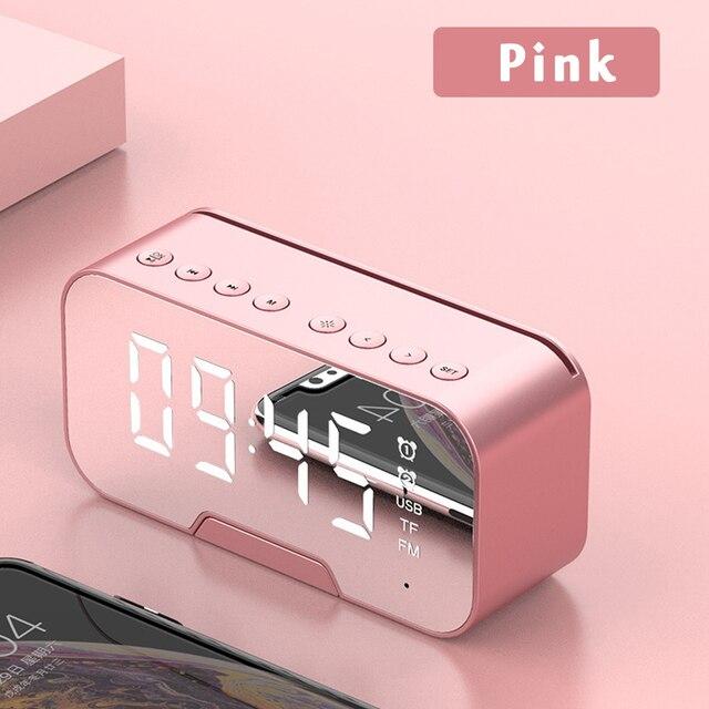Multifunction Alarm Clock Mirror LED Alarm Clock Multifunction Wireless Bluetooth Music Player Electronic Digital Alarm Clock 1