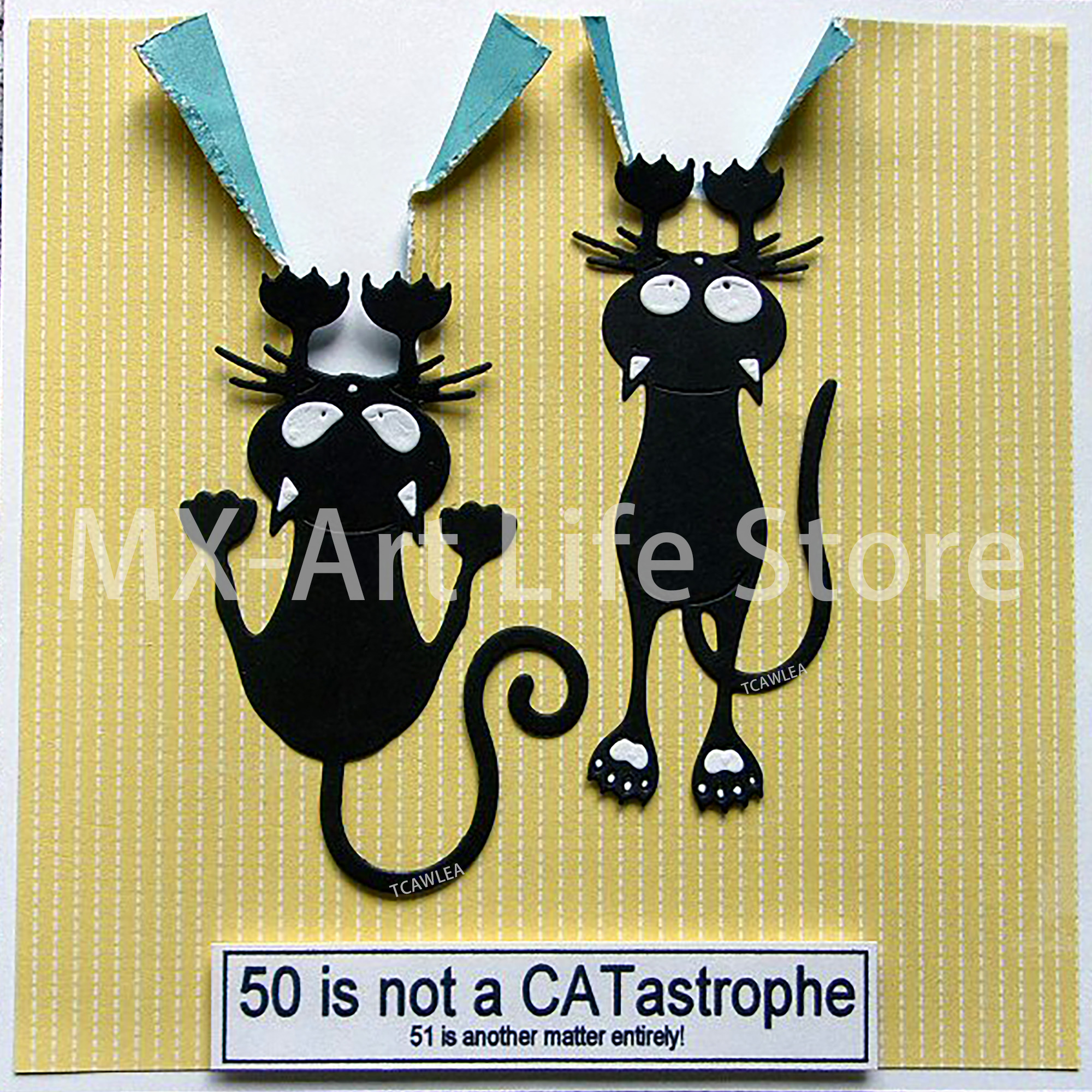 Lovely Black Pet Cat Metal Cutting Dies Cute Animal Stencil For DIY Scrapbooking Card Decorative Embossing