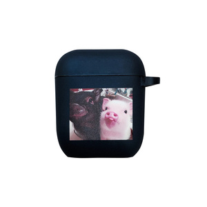 Image 5 - Nette cartoon schwein Transparente harte Für Airpods Pro Fall fall Bluetooth wireless headset für Air Schoten schutzhülle lade tasche