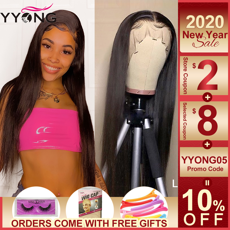 Yyong 13x4 Lace Front Wigs 12-26inch Pre Plucked Peruvian Lace Front Human Hair Wigs With Baby Hair Remy Low Ratio Lace Wig 120%