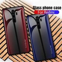Caso para Xaiomi Redmi Nota 8 Pro gradiente vidrio protector templado funda para Xiaomi Redmi Nota 8 7 6 5 Pro 7 8 7A K20 Capa