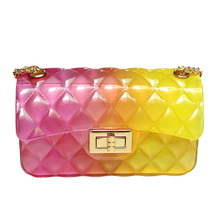 Jelly transparent crossbody bag women fashion shoulder messenger plastic pvc clear candy mini