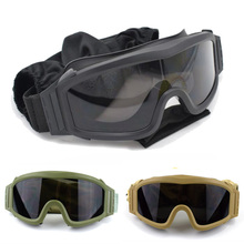Black Tan Green Airsoft Tactical Goggles Military Sunglasses