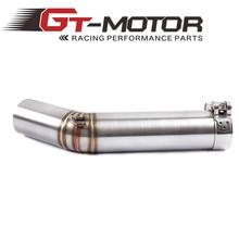 Acessórios para motocicletas de tubo de escape, cano de escape médio com conector silenciador para suzuki gsxr 600 gsxr600 k6 2006