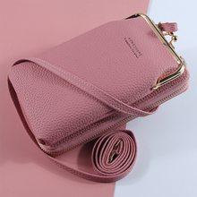 Venda quente sacos de telefone móvel com abertura de metal crossbody sacos de ombro mini couro do plutônio bolsa para meninas presente 2021