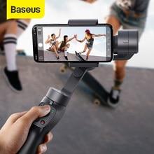 Baseus – stabilisateur de cardan portatif Bluetooth pour téléphone portable, bâton de Selfie, support à 3 axes, Modes réglables pour caméra d'action iPhone