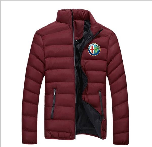 Brand New Hoodie Alpha Alfa Romeo Zipped Padded Sports Jacket Alpha Alfa Romeo Long Sleeve Jacket