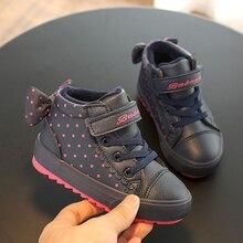 Crianças sapatos de inverno para a menina crianças botas meninos quentes 2019 novos sapatos de bebê mais de veludo da criança botas de inverno menina botas rosa sneaker