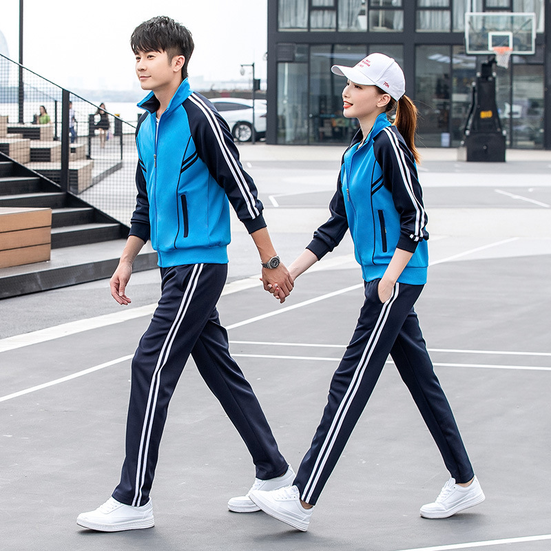 Customizable Sports Set Spring And Autumn Early High School Uniform Class Couples Morning Run Long-sleeve Sportswear