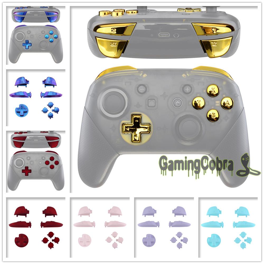 Repair ABXY D-pad ZR ZL L R Keys Replacement Full Set Buttons w/ Tools for Nintendo Switch Pro Controller