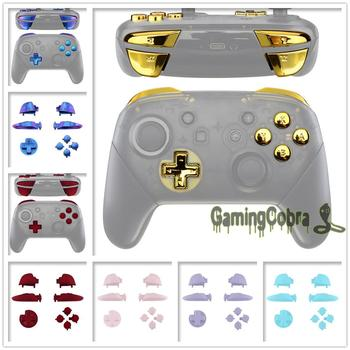 Repair ABXY D-pad ZR ZL L R Keys Replacement Full Set Buttons w/ Tools for Nintendo Switch Pro Controller - sale item Games & Accessories