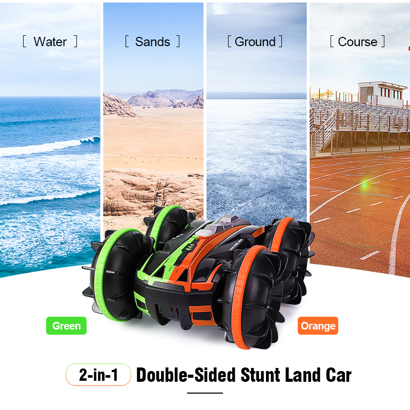 JJRC Q81 1 20 2 4G 2 in 1 Double Sided Amphibious 360 Degree Rotation RC