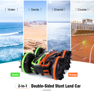 JJRC Q81 1:20 2.4G 2-in-1 Double Sided Amphibious 360 Degree Rotation RC Vehicle RC Car Remote Control Car RC Stunt Car Models(China)