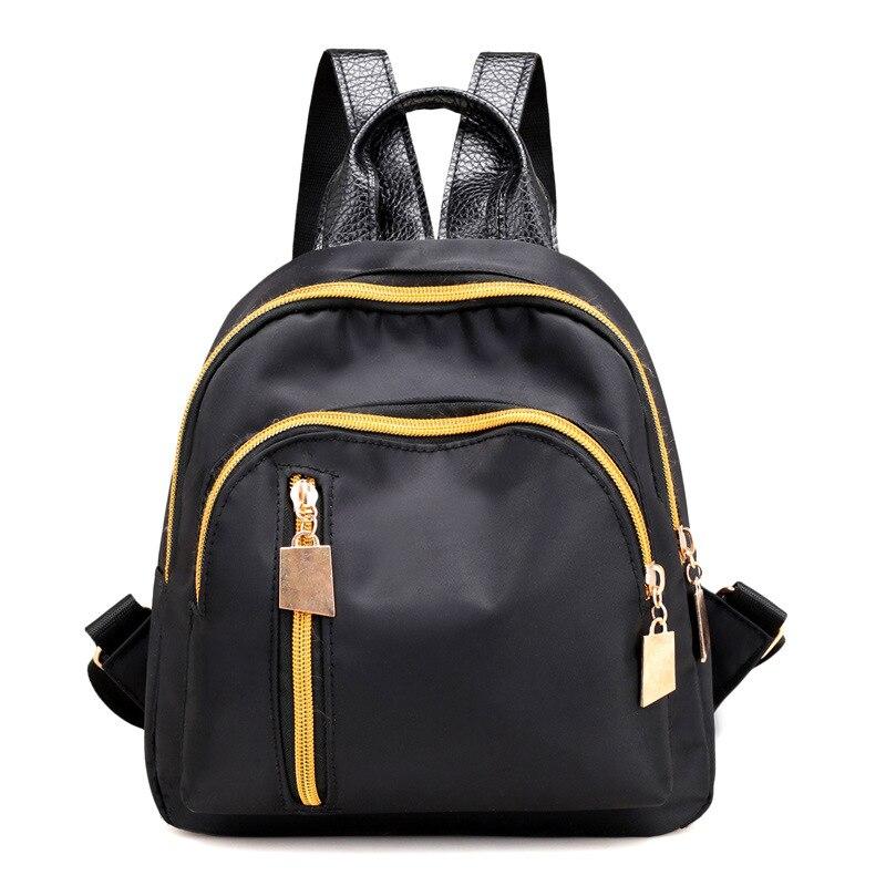 2019 New Women's Backpack Korean Version Of The Simple Student Backpack Waterproof Multi-pocket Travel Backpack Girl Pink Vs