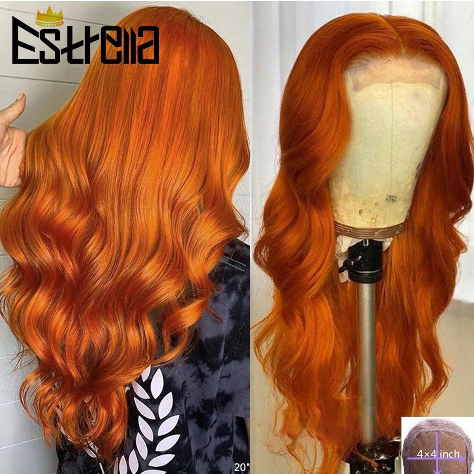 Парик из бразильских волос с волнистыми волосами, 4x4