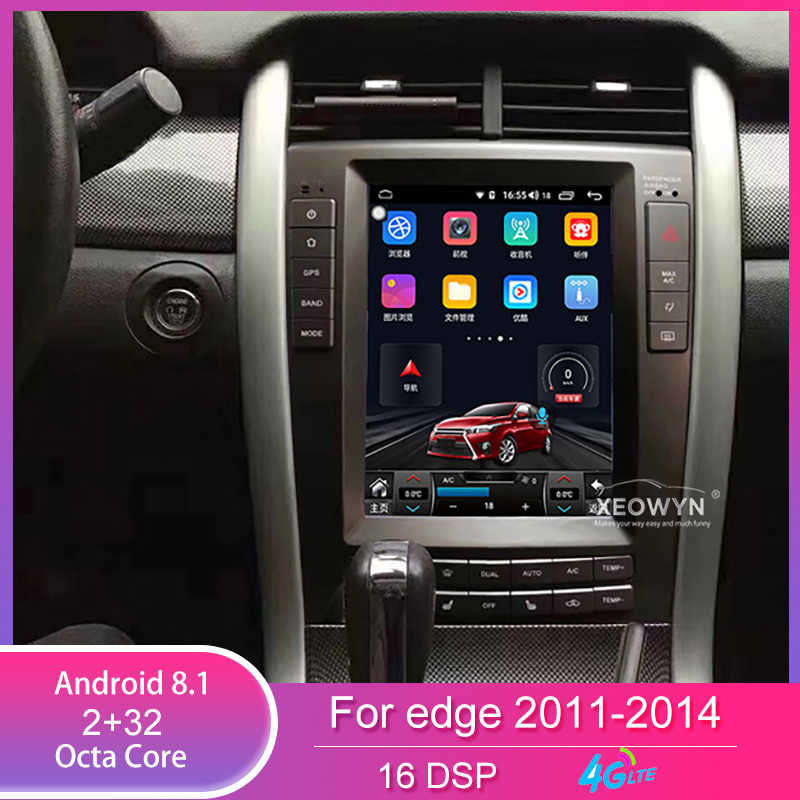 Octa Core RAM4GB Android 8.1 9.7Inch Tesla Verticale Screen Navigatie Multimedia Systeem Voor Ford Edge 2009-2014