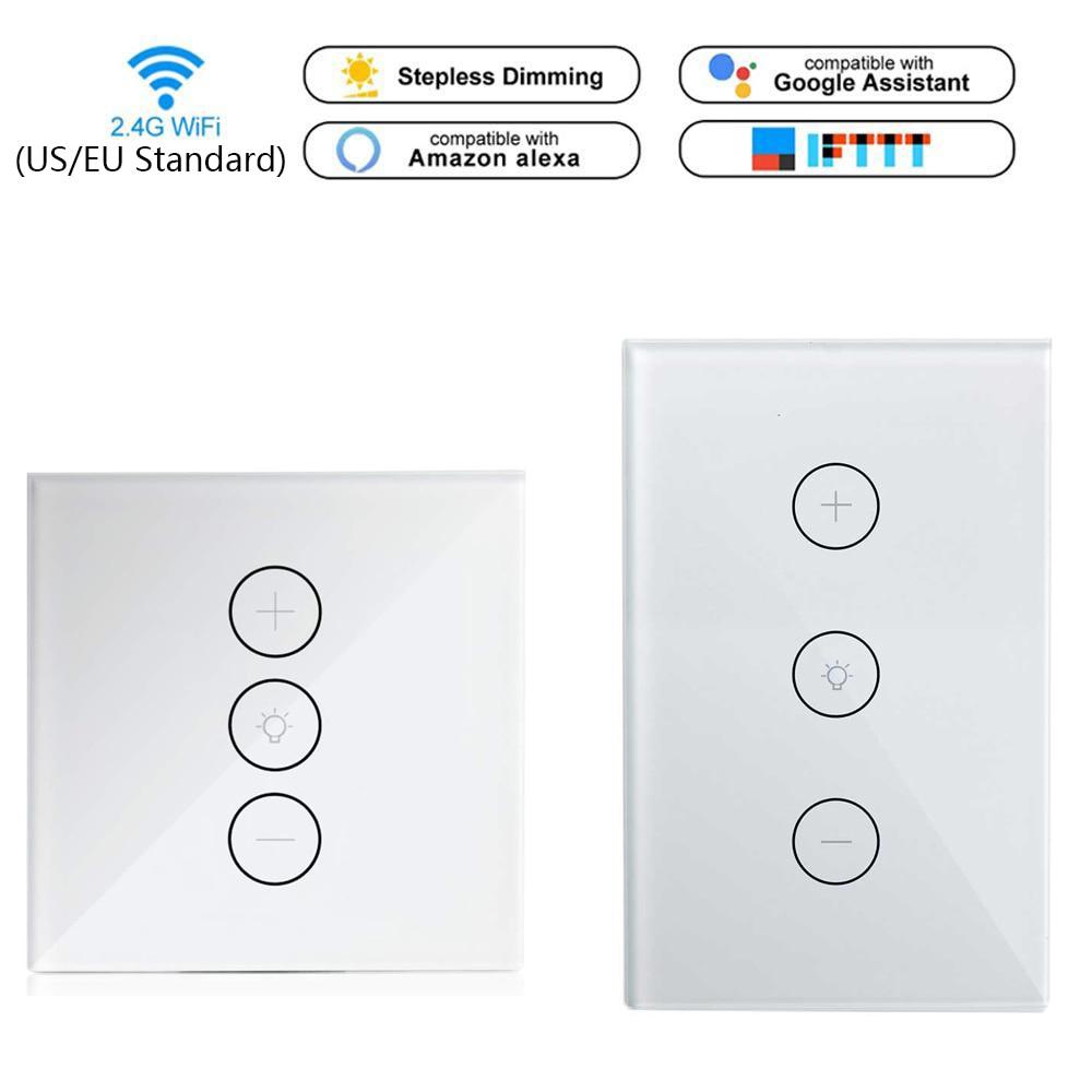 Teekar FS30 LED Smart Dimmer Switch EU/US Standard Ewelink Wifi Dimmer Touch Light Switch Dimme Work With Alexa Google Assistant