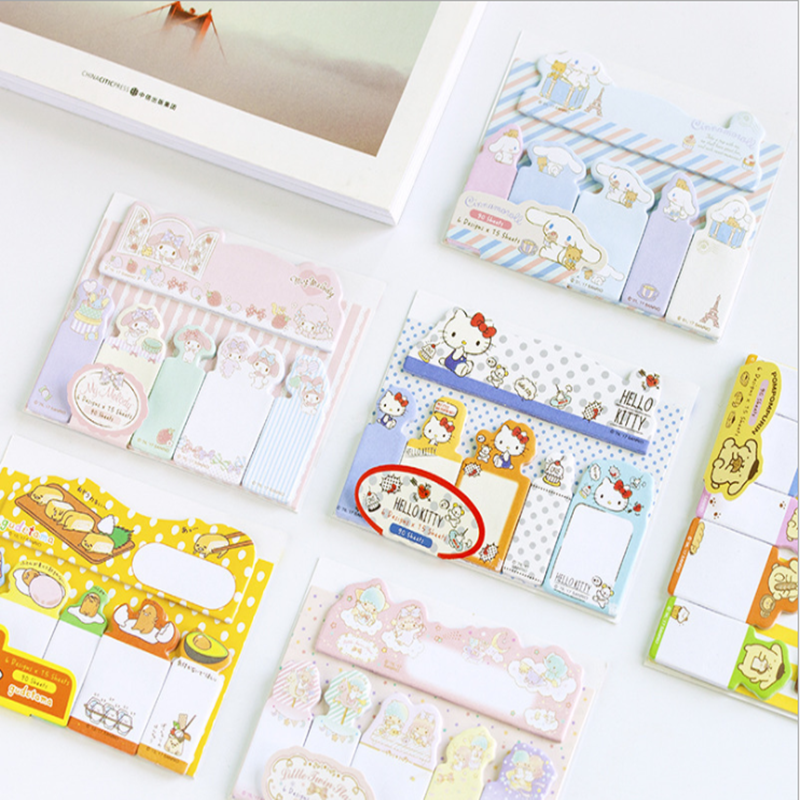 1pcs/lot Japan Kawaii Cartoon Sanrio Index Sticky Office Message Note N Times Sticky Note Planner Paper Decoration