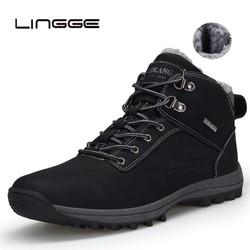 Homens botas de inverno botas de inverno botas de inverno botas de inverno de couro pu botas de neve à prova dwaterproof água botas casuais 39-48