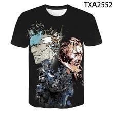 New Summer Metal Gear Solid 3D T shirt Men Women Children Ca
