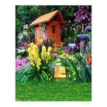 AM05-K4086 Vinyle Fond En Tissu Vert Jardin Beauté Fleurs Fond Décors de Studio Photo Photographique pour Mariage