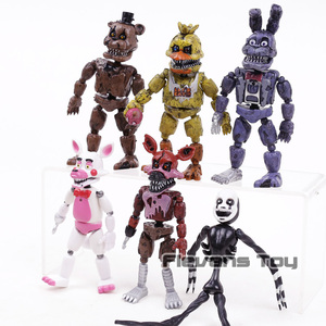 Image 3 - FNAF Five Nights At Freddys Nightmare Freddy Chica Bonnie Funtime Foxy PVC Action Figures Toys Sets