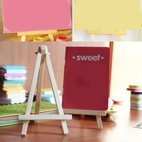 50 Pcs Mini Wooden Table Easel Desktop Name Card Picture Stand Display Easel Art Drawing for School Kids Artist