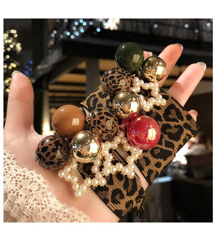 pentagrama leopardo faixa de borracha elasticidade pérola