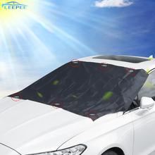 Dust-Cover Car-Sunshade-Cloth Snow Magnetic Waterproof Auto Silver Strong