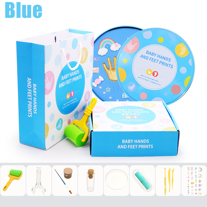 Baby Handprint Footprint Kit Newborn Baby Photo Album Personalized Footprint Decorations Box High Quality