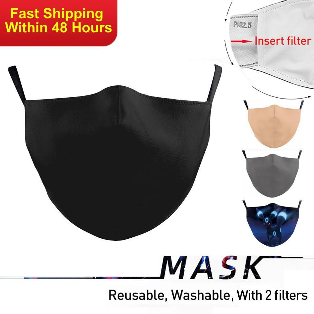 Zawaland Fashion Adult Protective Face Masks Reusable Mask Cover Washable Mouth Masks With Black Grey Beige Blue