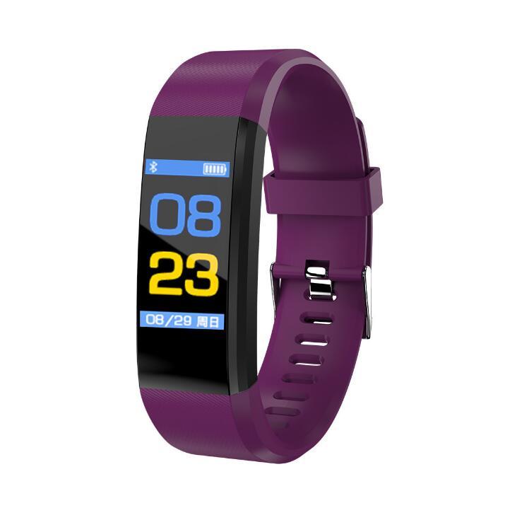 ID115plus Смарт-часы-браслет цветной экран Шагомер пульсометр кровяное давление мониторинг сна водонепроницаемый Интеллектуальный True Hea