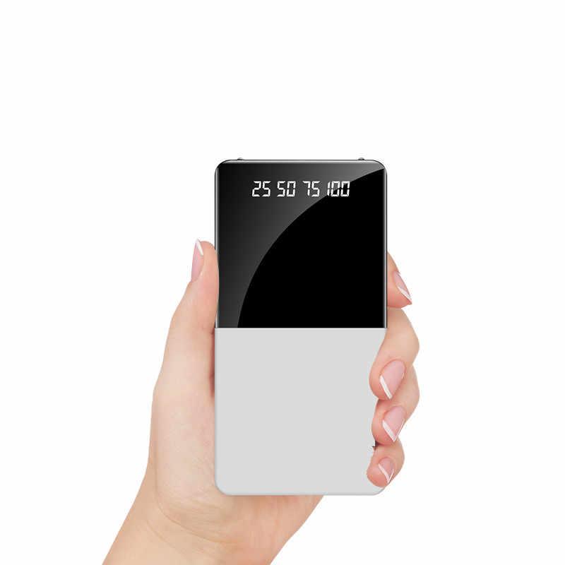 2020 כוח בנק 20000mAh נייד כוח בנק מטען עם LED תצוגה דיגיטלית חיצוני סוללה עבור Xiaomi iphone7 8 x xs