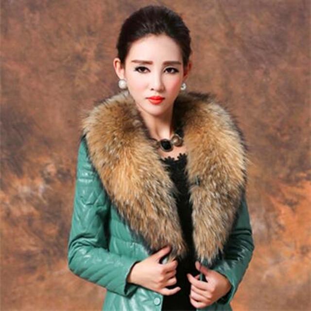 100% Genuine Raccoon Fur Collar Scarf For Coat Detachable Natural Raccoon Fur Scarf For Women Real Fur Collar Neck Warmer 6