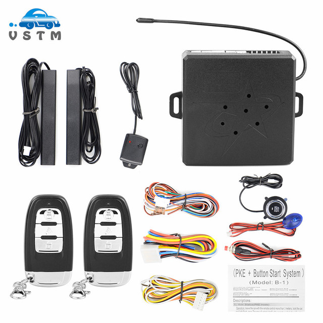 Auto Alarm Start Stop Taste Motor RFID Keyless Entry System Push Button Remote Starter Stop Auto