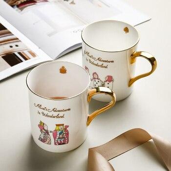 American Simple Mug Luxury Ceramic Creative Coffee Mug Travel Christmas Gift Canecas De Porcelana Drinkwear DD60MG