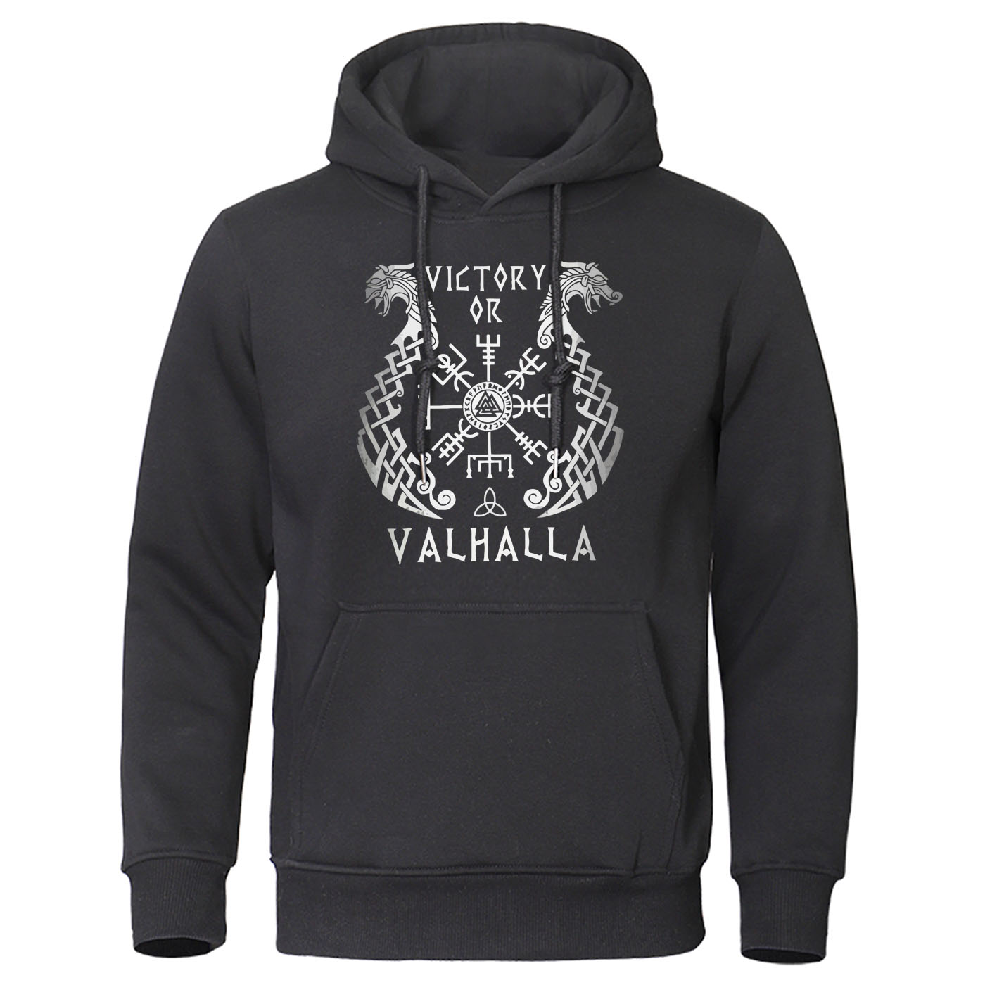 2019 Autumn Winter Pullover Fleece Warm Streetwear Casual Hoody Viking Legend Men Hoodies Sweatshirt Valhalla Odin Mens Hoodie