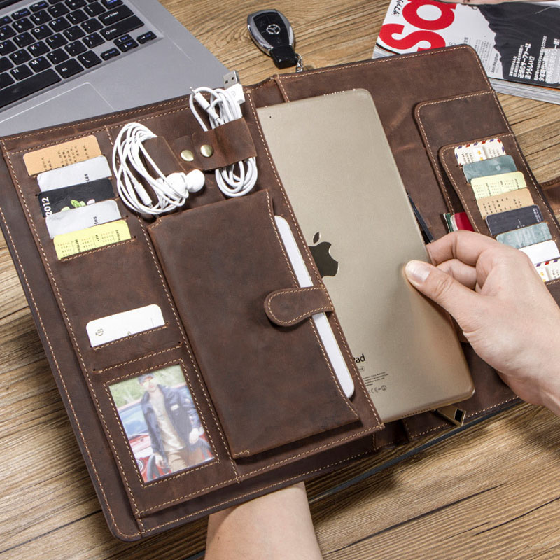 2019 Horse Cow Leather Case For IPad Pro7.9  9.7 10.5 11 MacBook Tablet Laptop Pouch Bag Pouch Passport Holder IPAD Case