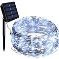 Солнечная гирлянда  150 светодиодный  водонепроницаемый  Декоративная гирлянда  медный провод  огни для свадьбы  патио  спальни  вечерние
