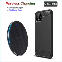 Qi 10W Wireless Charging for Google Pixel 4/4 XL Fast Phone Charger Qi Wireless Charger Gift TPU Case for Pixel 4 4XL