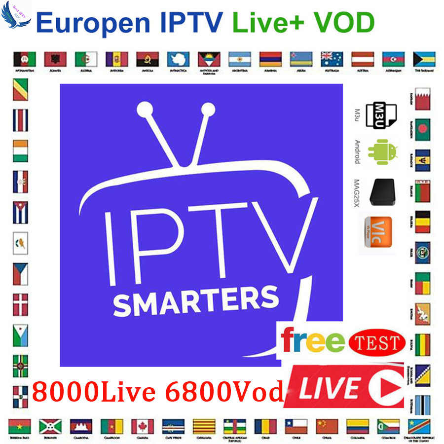 8000 Saluran Dunia Global IPTV Eropa USA UK Jerman Italia Nordic Latin 3/6/12 Bulan Berlangganan untuk m3U Mac Android Smart TV