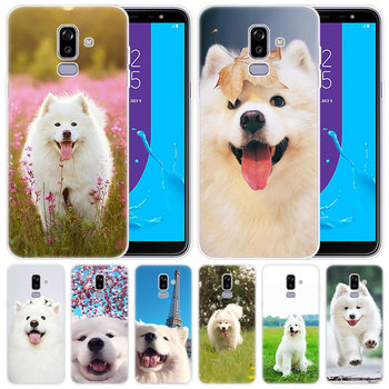 De lujo de silicona caso samoyedo perros para Samsung Galaxy J8 J7 J6 J4 J2 2018 Core J3 2016 J5 2017 cubierta principal de EU J4 Plus J7