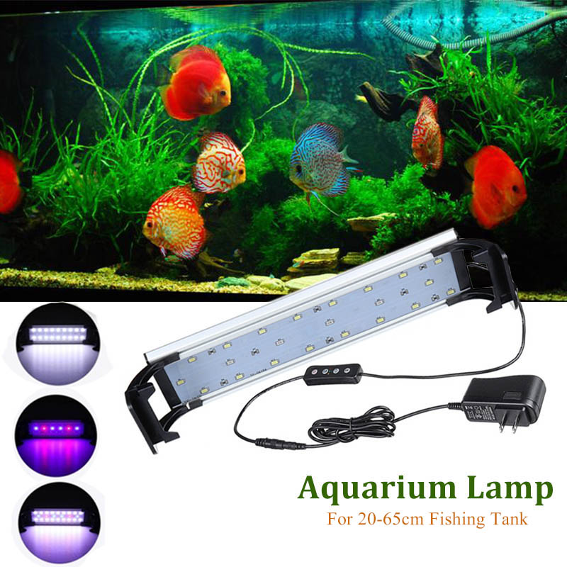 LED Light Aquarium Led Lighting Fish Tank Lamp 20-65CM Adjustable Aquatic Plant Lamps RGB Decoration Professional Remote Lights