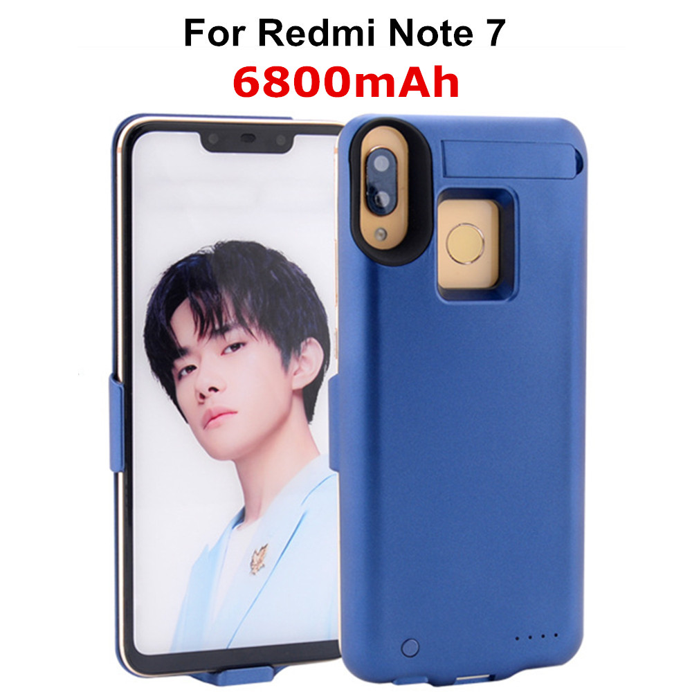 NTSPACE Portable Power Bank Case Charging Cover for Xiaomi Redmi Note 7 Battery Case 6800mAh External Battery Phone Charger Case|Battery Charger Cases| |  - title=